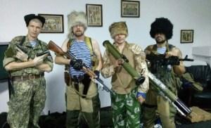 Russian cossacks in Donbas, Ukraine (Image: nr2.com.ua)