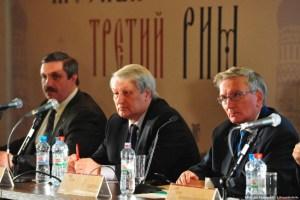 "Leonid Reshetnikov speaking at the ""Moscow the Third Rome"" conference November 11, 2014. (Image: Dmitry Glivinsky pravoslaviye.ru)"