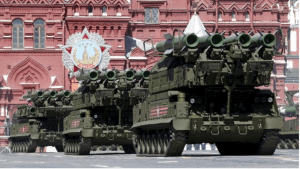 Buk-M2 surface-to-air missile systems rehearsing for Victory Day parade in Red Square, May 7, 2015. Russia will celebrate the 70th anniversary of the victory over Nazi Germany in World War Two on May 9. REUTERS/Grigory Dukor