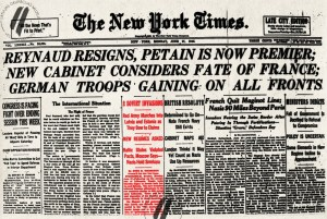 Report in the New York Times concerning the occupation of Latvia and Estonia on 17 June 1940 (Image: The Museum of the Occupation of Latvia)