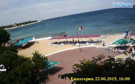 Tourism is critical to Crimea's economy. After Russia's annexation of the Ukrainian peninsula, the multi-million flow of tourists contracted to a trickle, thus crushing Crimean economy. The webcam images of empty beaches that normally were completely full are a confirmation. June 2015 (Image: Webcam capture)