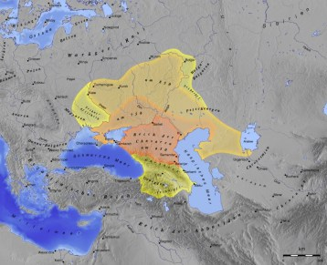 Khazar Khaganate (650?–1048?) Image: Wikipedia