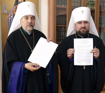 The Ukrainian Autocephalous Orthodox Church and the Ukrainian Orthodox Church of the Kyiv Patriarchate, two of the three largest Orthodox denominations in Ukraine, have agreed to hold a meeting later this month to discuss unification. June 2015 (Image: cerkva.info)
