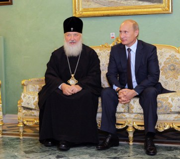 Putin and Patriarch Kirill of Moscow