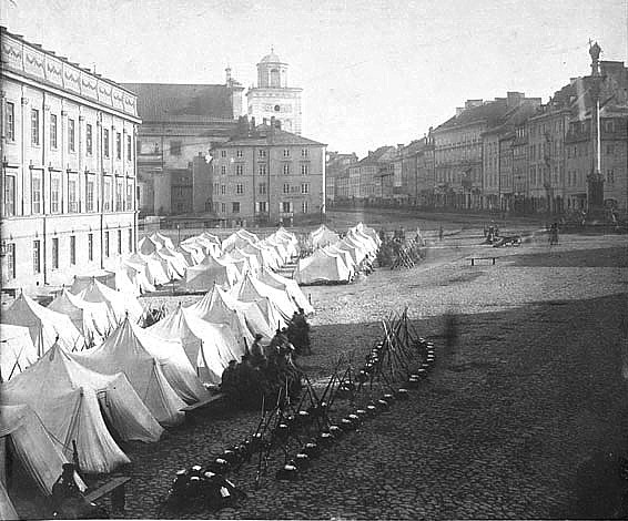 Russian army in Warsaw during martial law 1861 (Image: Wikipedia)