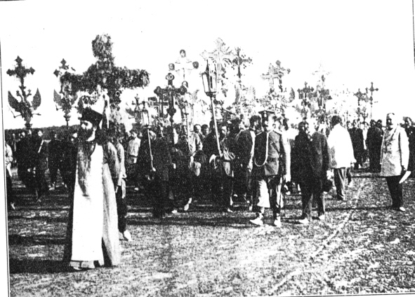A Black Hundreds procession in Russia, 1907 (Image: Wikipedia)
