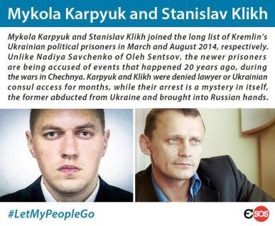 Mykola Karpyuk and Stanislav Klikh #LetMyPeopleGo