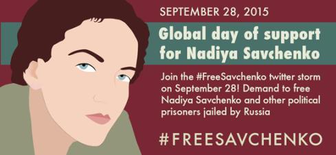 Nadiya Savchenko (Twitter storm on September 28, 2015)