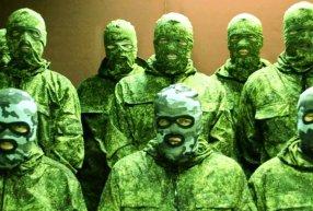 """Screenshot of a video-appeal of the """"Kharkiv Partizans"""""""