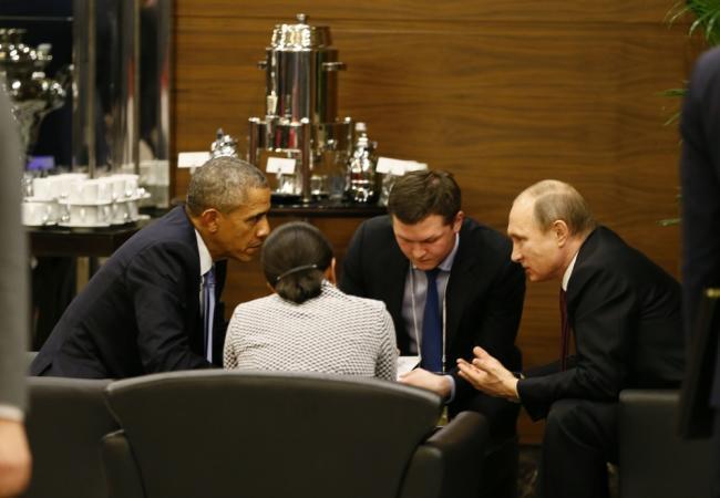 US President Barack Obama meets with Russian President Vladimir Putin on the sidelines of the G20 summit on Nov. 15, 2015 in Antalya, Turkey. (Image: AFP)