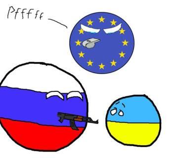 Europe Russia Ukraine carricature