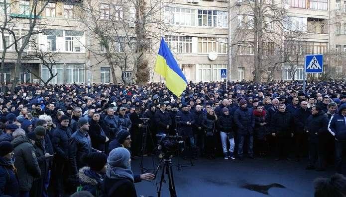 Militia protest reform Ukraine