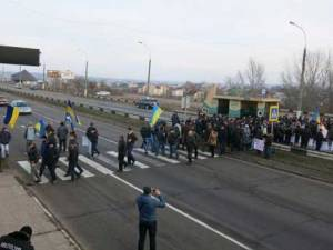 Farmers in Kherson protest changes to the tax code.