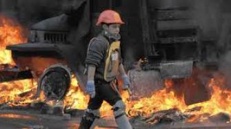 12 year old boy on Maidan