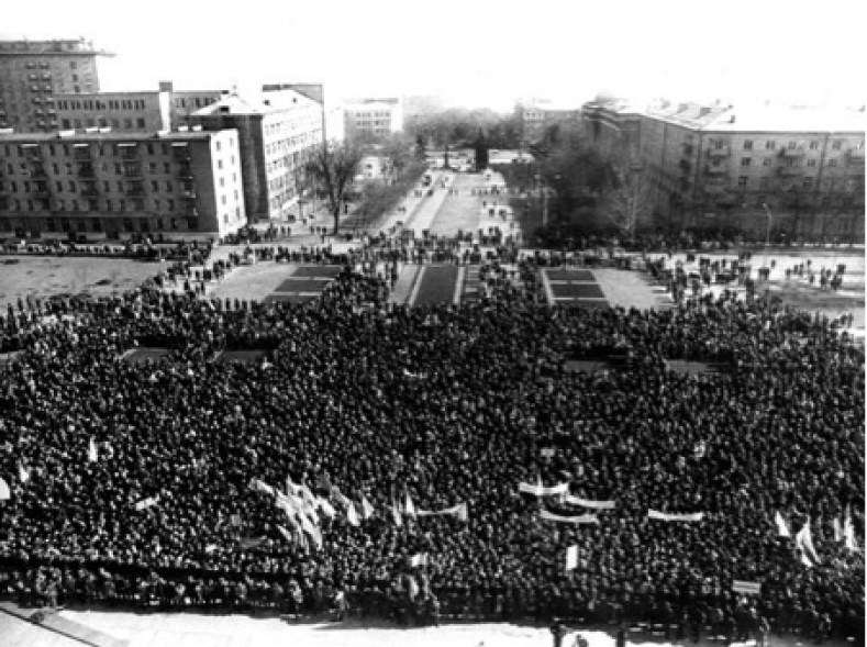 Donetsk, February 25 1989, miners' strike