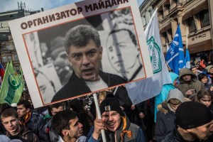 "Boris Nemtsov ""Maidan Organizer"" Anti-Maidan Rally, Moscow, Feb 20, 2015"