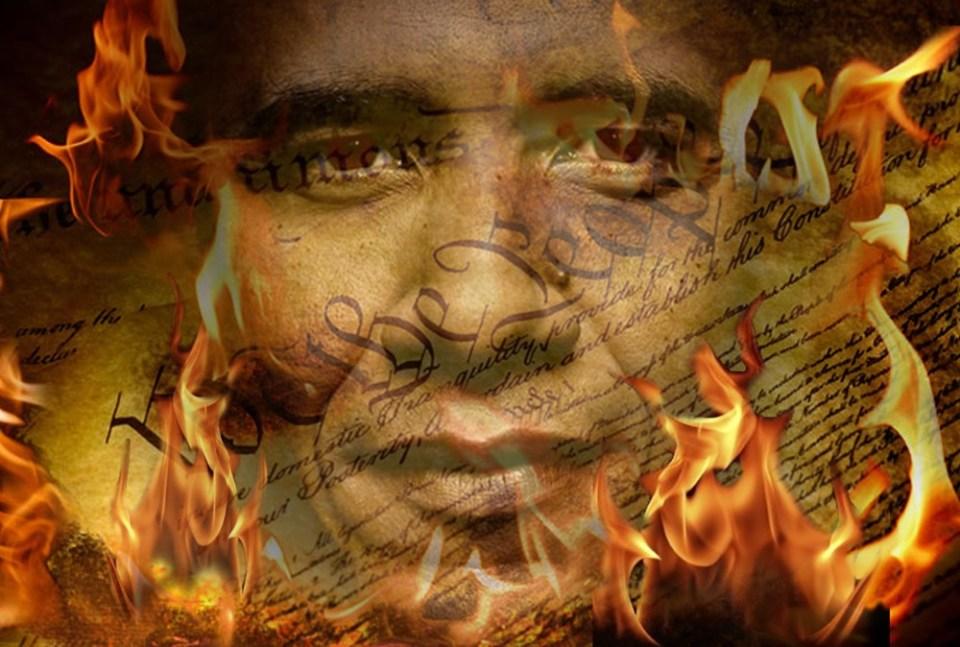 Obama flames