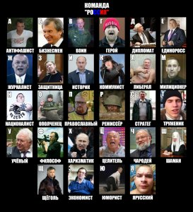 """Putin's """"nomentclatura"""" through the eyes of the common Russians. An alphabet of """"Team Russia"""" (Image: Russian social networks)"""