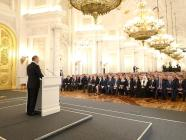 "Putin addressing his ""new nomenklatura"" ruling elite. Russian kleptocrats have been parking their stolen wealth in the West since the break-up of the Soviet Union (Image: kremlin.ru)"