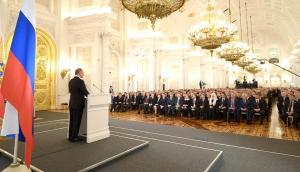 "Putin presenting to his ""nomenklatura"" elite (Image: kremlin.ru)"