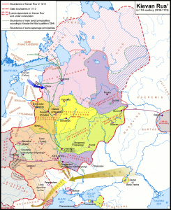Map of Kyivan Rus (Image: Wikipedia)