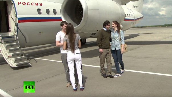 Arrival of GRU operatives Aleksandrov and Yerofeyev amnestied by Ukraine to Moscow. Photo: RT
