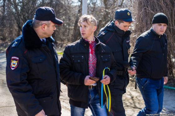 Oleksandr Kravchenko is one of those who was detained in occupied Simferopol on 9 March 2015, attempting to honor anniversary of Ukrainian poet Shevchenko. Photo: krymr.org