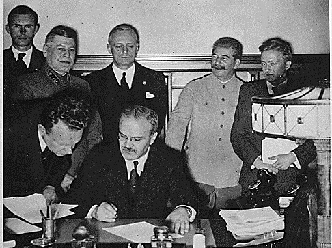 Image result for Stalin Hitler pact images