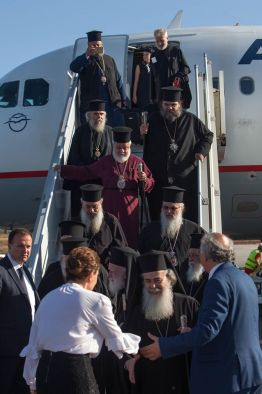 Patriarchs arrived at Chania airport for the beginning of the Holy and Great Council. Photo: fb.com/HGCPress