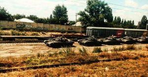 Volunteers of InformNapalm.com recorded a shipment of Russian tanks T-72B to Kamensk-Shakhtinsky, near Ukrainian-Russian border. July 2016. (Image: InformNapalm.com)