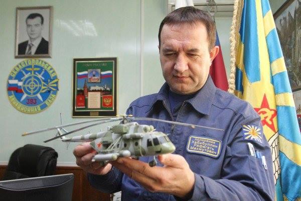 Russian helicopter ace Col. Khabibullin (Image: vm.ru)
