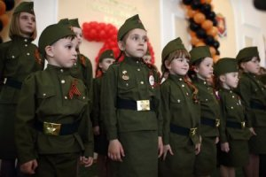 "A photo from the album called ""Children -- Our Future"" from a ""Novorossiya"" website (Image: e-news.su)"