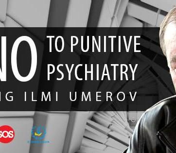 "Say ""No"" to punitive pshychiatry. Stop killing Ilmi Umerov! (Image: #LetMyPeopleGo, ESOS, Euromaidan Press)"