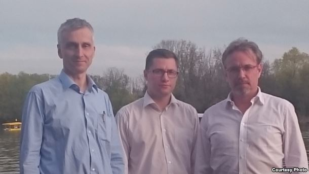Pictured from left to right: Ventsislav Buyich, Sergei Lush, Alexei Kochetkov. Belgrade, Serbia, April 2016