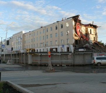 A damaged building in Yakutsk, Russian Far North (Image: social media)