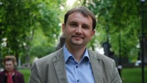 Volodymyr Viatrovych, Ukrainian historian (Image: Hannah Beitzer)