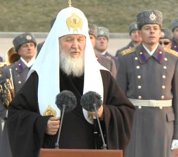 Patriarch Kirill, the head of the Russian Orthodox Church (Moscow Patriarchate)