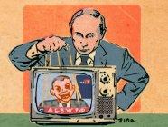 Putin the TV Puppet Master (Image: Zina Saunders)