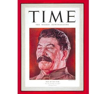 Time Magazine named Soviet dictator Joseph Stalin its Man of the Year twice: 1939 and 1942. The cover page of Time's January 1940 issue. (Image: Time)