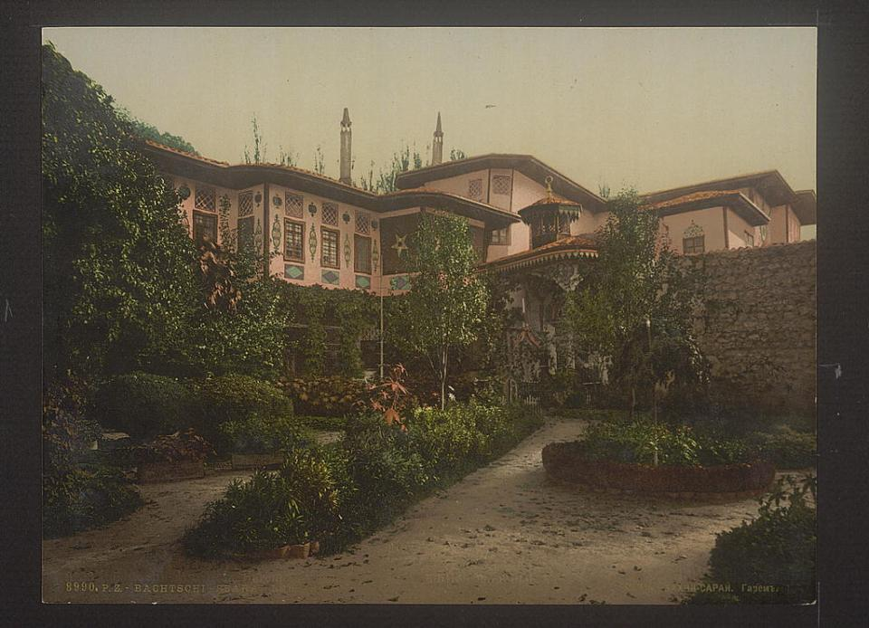 A view of the harem part at the former royal palace of the Crimean Tatar Khanate in Bakhchysarai, Crimea, Ukraine circa 1890-1900. Image: Detroit Publishing Company via the Library of Congress