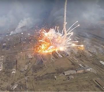 The Balakliya ammunition depot explosion (Image: zn.ua)