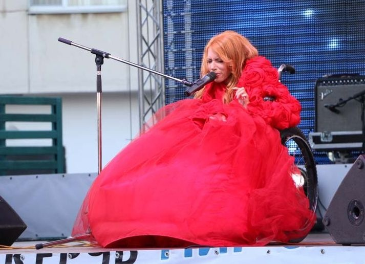 Yulia Samoylova performed at a concert in occupied Crimea on 27 June 2015. Photo; UKRINFORM