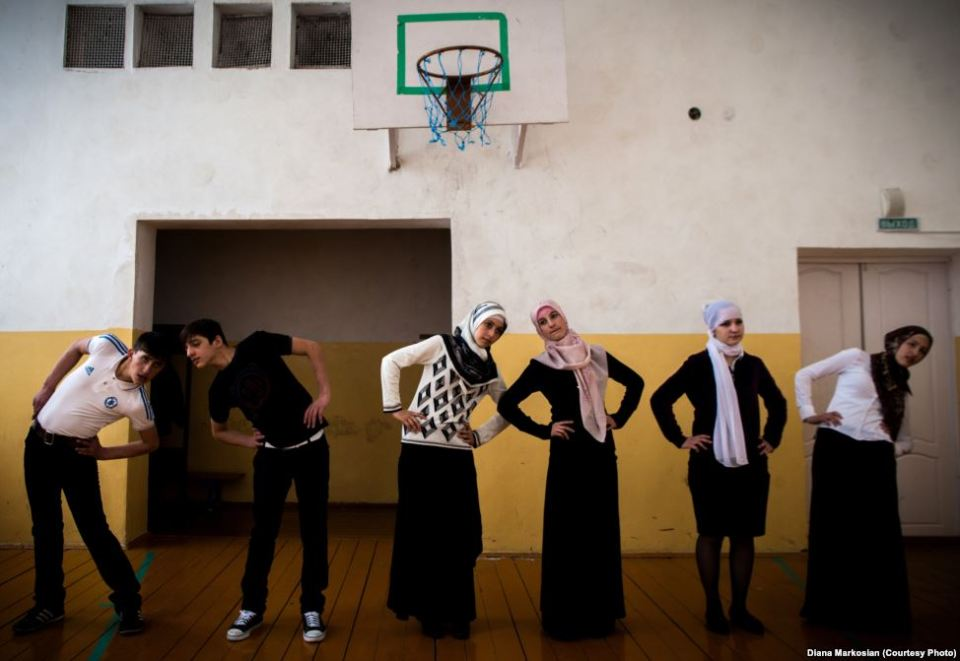 """Grozny's decision to permit pupils to wear the hijab """"poses serious questions about the federal arrangement of Russia"""" because the Chechens have essentially gone their own way without regard to Moscow (Image: Diana Markosian)"""
