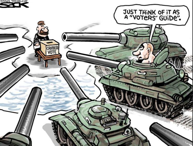Crimean referendum: voting at gun point