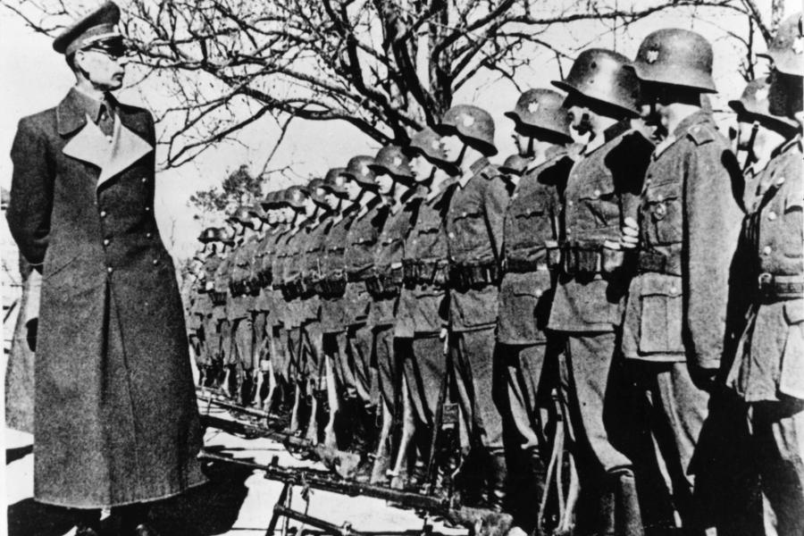 Hitler's collaborator Lt. Gen. Andrey Vlasov inspecting the troops of his Russian Liberation Army. (Image: Wikimedia)