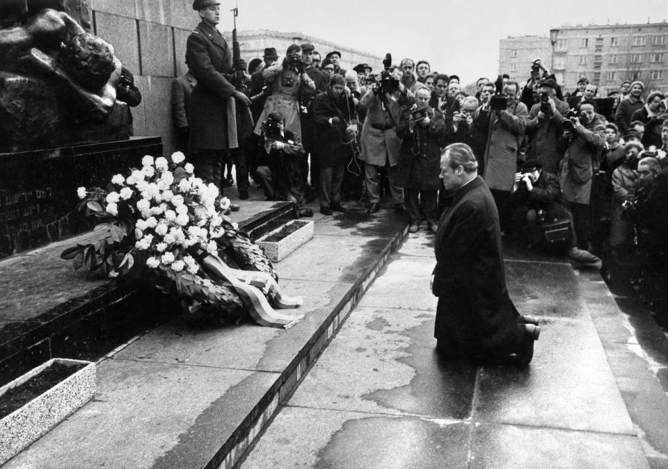 "Kniefall von Warschau (German for ""Warsaw Genuflection"") refers to a gesture of humility and penance by German Chancellor Willy Brandt in 1970 towards the victims of the Warsaw Ghetto Uprising."