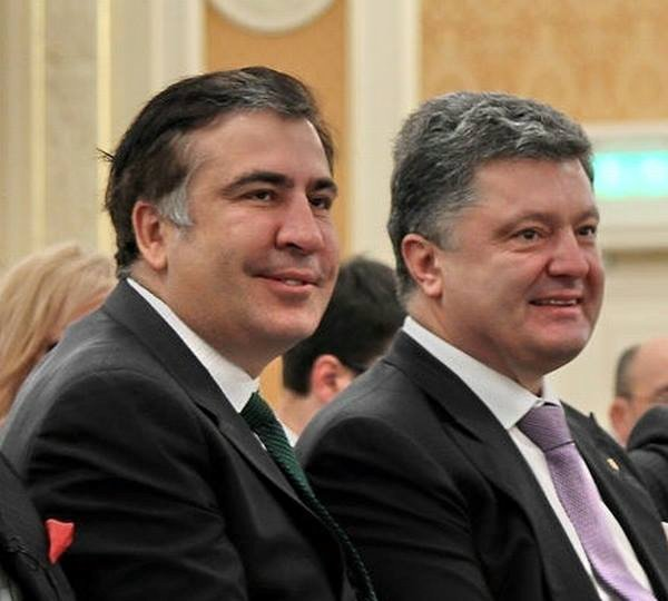 Mikheil Saakashvili (left) and President Petro Poroshenko (right). Source: Mikheil Saakashvili's fb