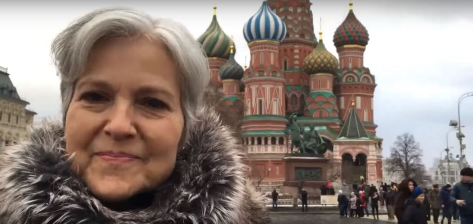 To-be U.S. presidential candidate Jill Stein in Moscow's Red Square, December 2015. Screenshot from a video