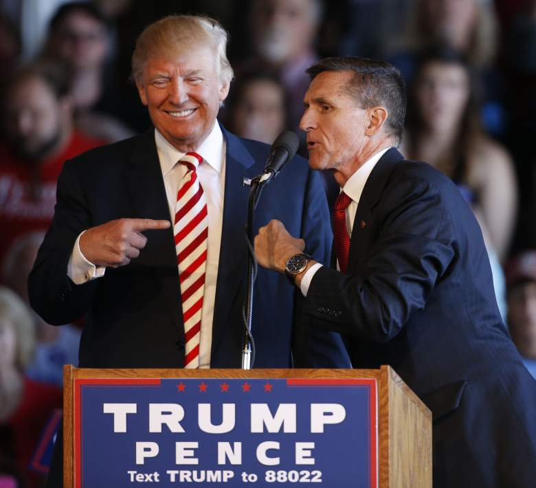 Trump and Flynn during the 2016 presidential race. Photo: George Frey
