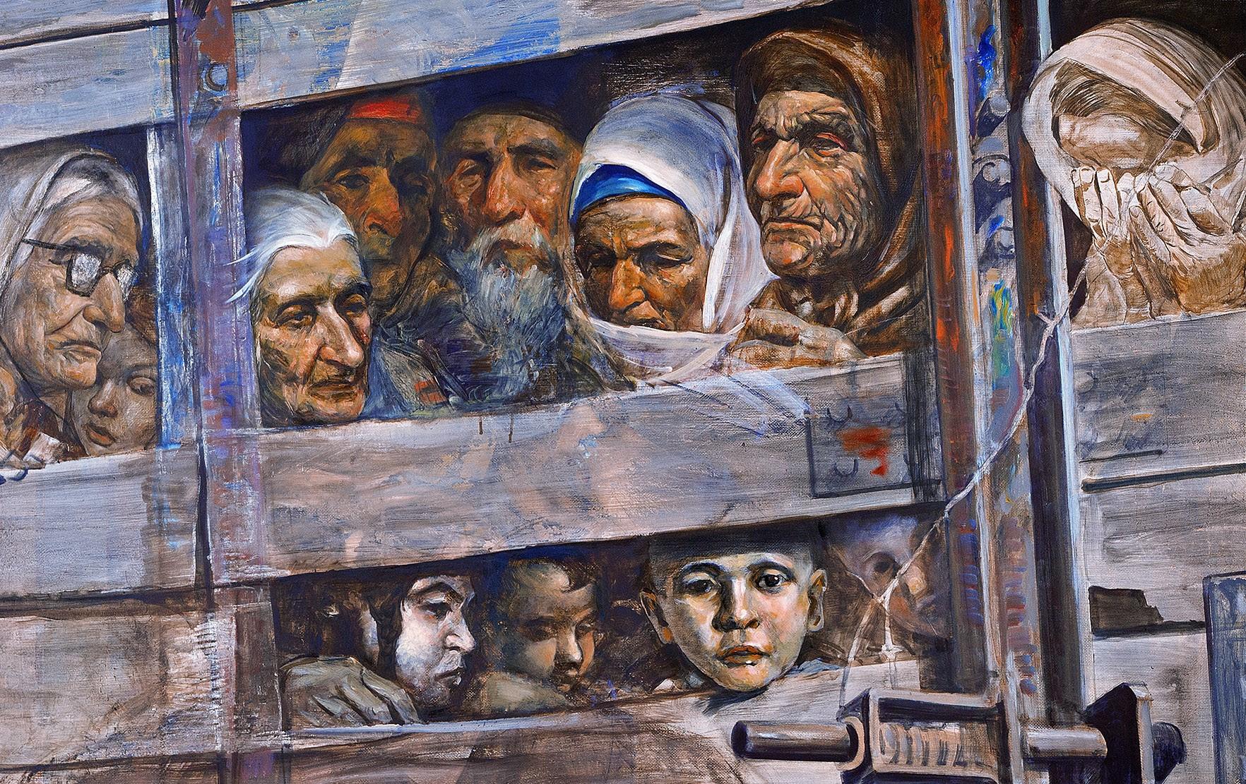 Resultado de imagen de chechen people in gulags 1944 images